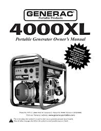 briggs u0026 stratton xl4000 owner s manual