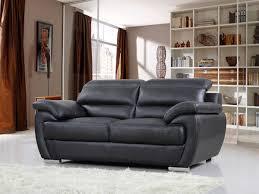 lolet canapé canapé cuir reconstitué pvc berlin 2 places noir 84902 84903