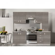 cuisine bois gris cuisine complète en bois gris 220 cm oxane