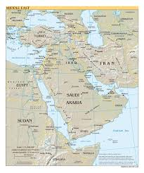 Political Map Asia by Large Scale Political Map Of The Middle East With Relief Major