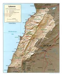 Travel Weather Map Map Of Lebanon