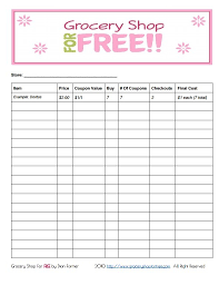 printable household shopping list free printable coupon grocery shopping list