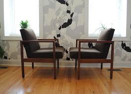 mid century modern walnut armchairs phylum furniture