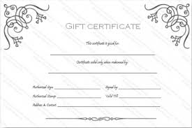 custom gift certificates simple gift certificate templates