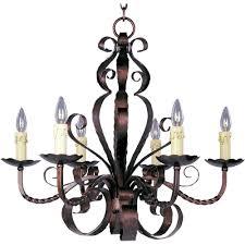 maxim lighting aspen 6 light oil rubbed bronze chandelier 20612oi