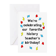history teacher birthday blank greeting card by not just shirts