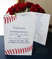 baseball themed wedding save the date originals wedding program for baseball themed weddings