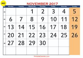 printable calendar page november 2017 november 2018 printable calendar templates free printable calendar