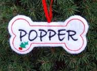 personalized gingerbread ornament sew
