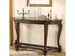 Sofa Table Design Glass Signature Design By Ashley Norcastle Sofa Table With Glass Top