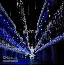 plain decoration led icicle christmas lights falling cool white