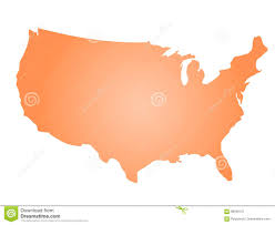 States Of United States Map by Orange Radial Gradient Silhouette Map Of United States Of America