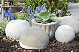 concrete garden orbs how to make a garden decoration home
