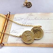 double gold pendant necklace images Double sixpence coin necklace by becca jewellery jpg