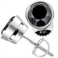 black diamond earrings studs 5 00 ct certified black diamond earrings bezel set studs