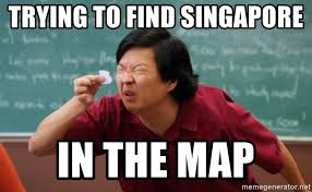 Singapore Meme - trying to find singapore in the map tiny text guy meme generator