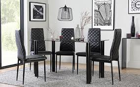 Glass Dining Table  Chairs Glass Dining Sets Furniture Choice - Kitchen glass table