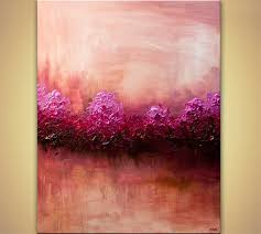 Home Decor Paintings by Landscape Painting Large Modern Pink Abstract Art Home Decor 7864