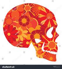 halloween background portrait mexican skull art halloween dia de stock vector 327213545