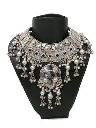 boho bib necklace images Statement bib necklace earring tribal vintage boho gypsy hippie jpg
