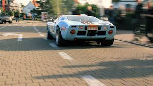 gulf gt40 gulf livery ford gt40 start up drive by sound youtube