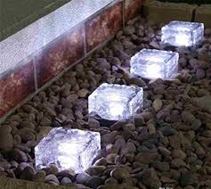 frostfire solar lights online store led solar lights ice cube rocks crystal glass