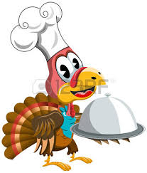 thanksgiving turkey holding american football isolated