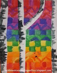 Color Wheel Home Decor Rainbow Skies U0026 Dragonflies Color Wheel Skies With Birch Trees