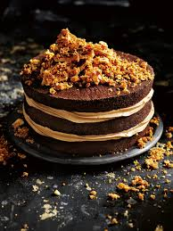 salted caramel honeycomb crunch cake donna hay