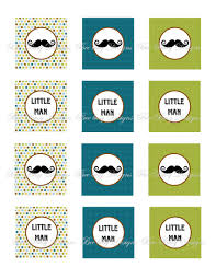 printable mustache baby shower or birthday cupcake toppers bee