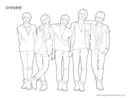Shinee Lineart Coloring Page By Cooldas On Deviantart Coloring Pages Kpop