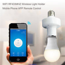 smart items for home sonoff e27 slher wifi 433mhz wireless light holder smart switch