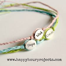 diy simple bracelet images Diy inspirational word bracelets so easy what great stocking jpg