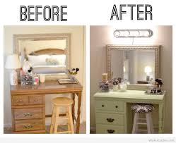 Vanity Table Ideas White Diy Vanity Table With Shelf Underneath For Make Up And Glass