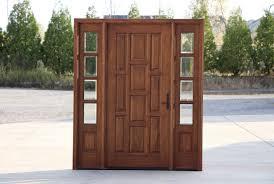 Exterior Door With Side Lights Wooden Front Doors Side Lights Solid Material Wooden Front Doors