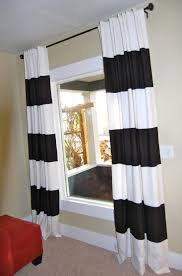Black And White Valance Decorating Beautiful Black And White Horizontal Striped Curtains