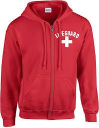 lifeguard hooded hoodie pullover sweatshirt unisex lifeguard equipment