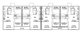 three plex floor plans 4 plex apartment plan j778 4b plansource inc