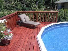 furniture back yard landscaping ideas with wooden side deck with