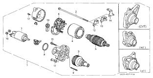 starter on honda civic 31200 p2c 004 genuine honda starter motor assy sm 422 09