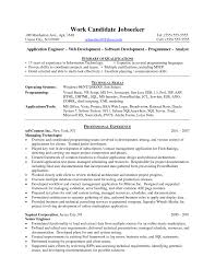 Wcf Resume Sample sample resume for java developer 1 year experience intended for