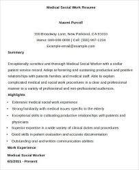 medical social worker resume social worker cover letter social
