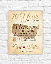 10 year anniversary gifts for men 10 year anniversary gift gift for men women his hers 10th