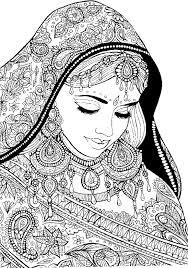 femme arabe avec des vêtements de fête coloriages pinterest