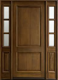 Solid Wooden Exterior Doors Entry Door In Stock Single With 2 Sidelites Solid Wood With