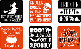halloween gift set of 6 vinyl decal stickers for glass blocks halloween gift