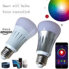 alexa compatible light bulbs wifi bulbs smart bulb wifi led light bulbs 7w rgb voice controlled