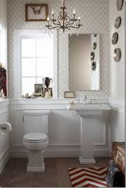 Narrow Powder Room - powder room para el hogar pinterest beige wallpaper