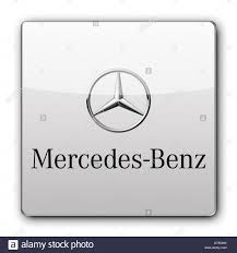 mercedes benz logo icon app banner flag stock photo royalty free