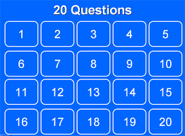 twenty questions powerpoint template pie chart 80 20 percent